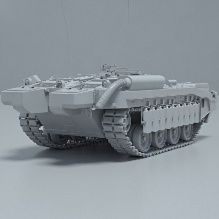 Stridsvagn 103 royalty-free 3d model - Preview no. 12