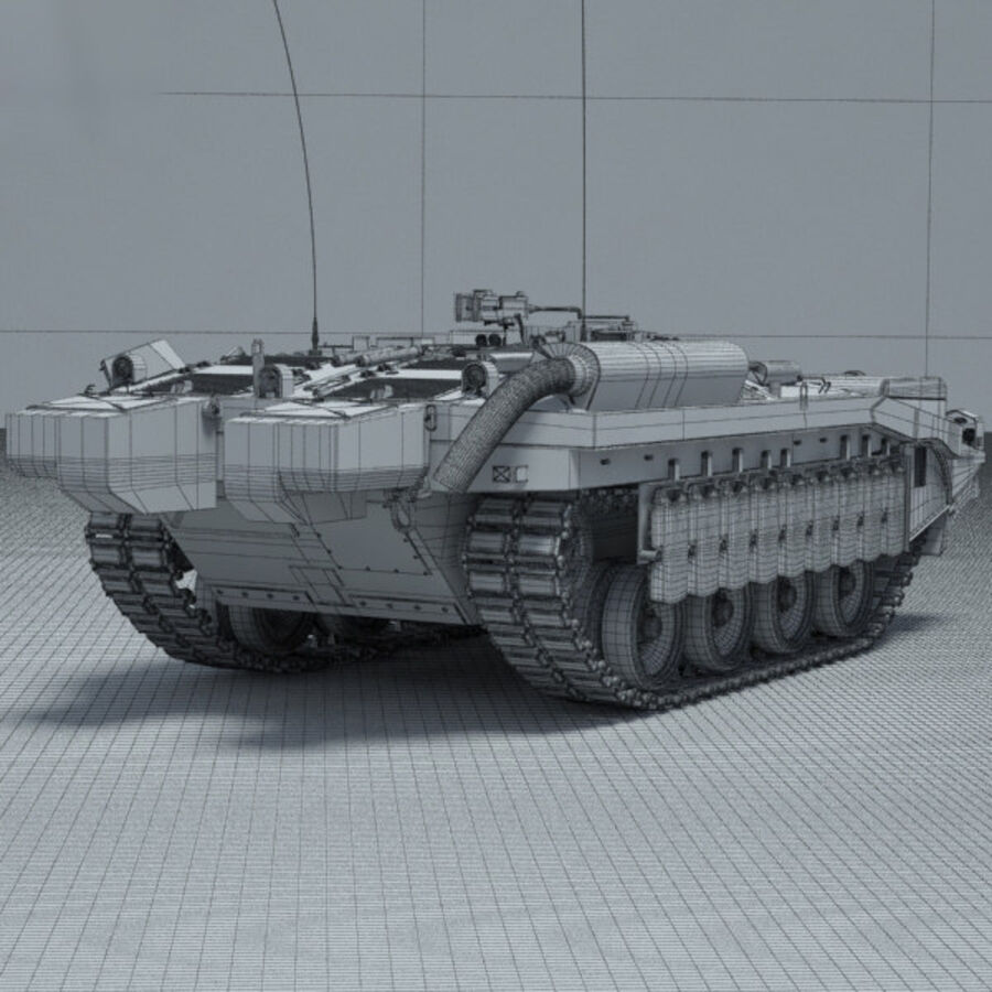 Stridsvagn 103 royalty-free 3d model - Preview no. 4