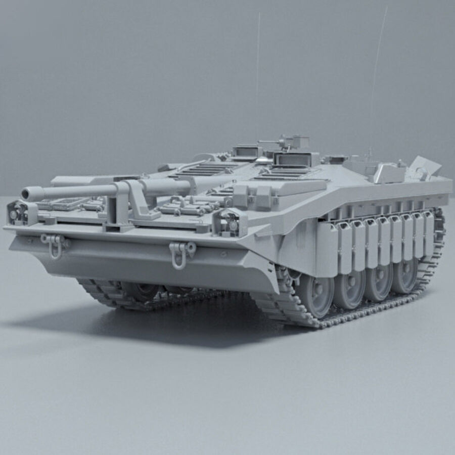 Stridsvagn 103 royalty-free 3d model - Preview no. 11