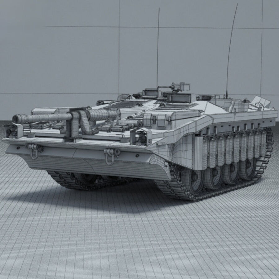 Stridsvagn 103 royalty-free 3d model - Preview no. 3
