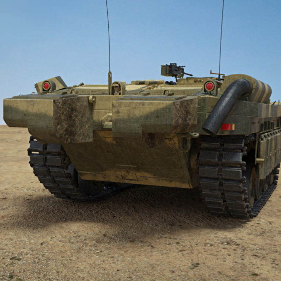 Stridsvagn 103 royalty-free 3d model - Preview no. 7