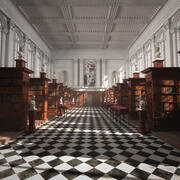 Bibliothek 3d model