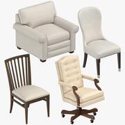伝統的な椅子 3d model