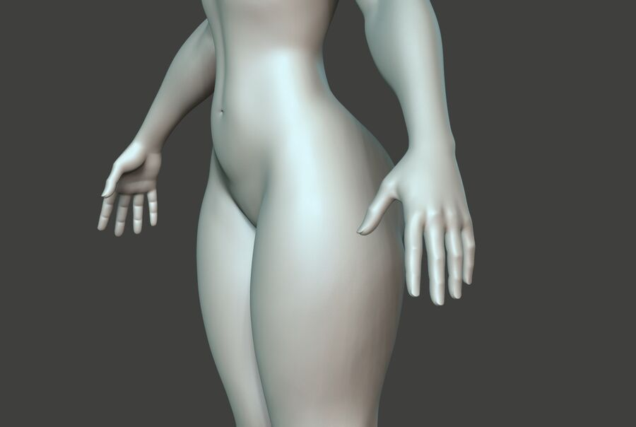 Corpo Feminino Basemesh 11 royalty-free 3d model - Preview no. 16