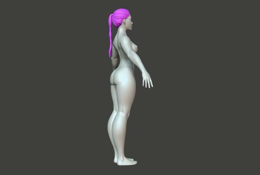 Corpo Feminino Basemesh 11 royalty-free 3d model - Preview no. 4