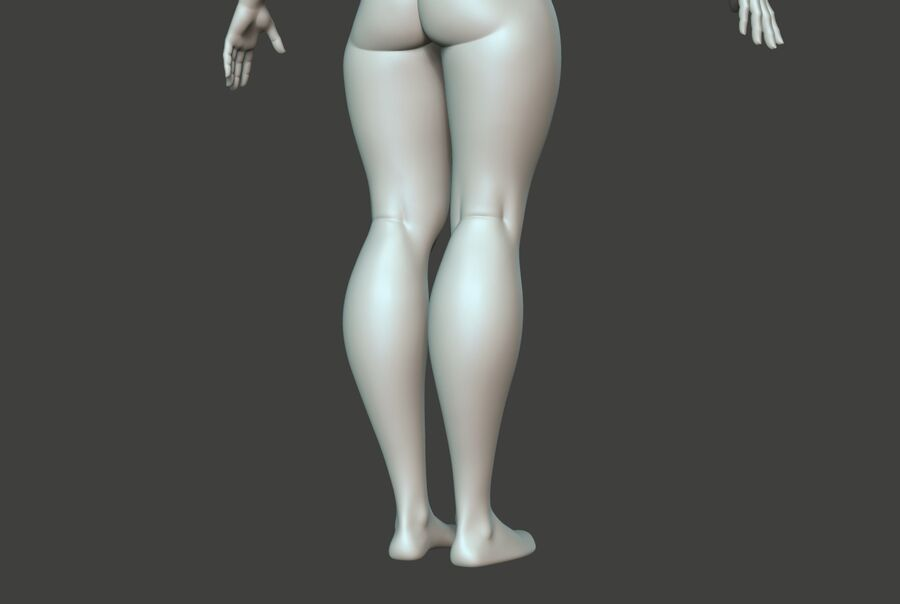 Corpo Feminino Basemesh 11 royalty-free 3d model - Preview no. 11
