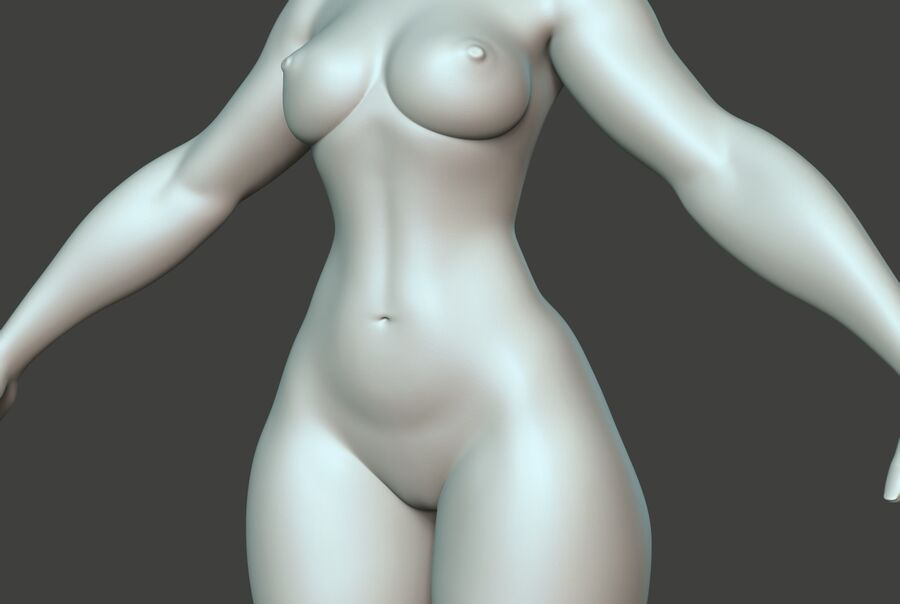 Corpo Feminino Basemesh 11 royalty-free 3d model - Preview no. 7