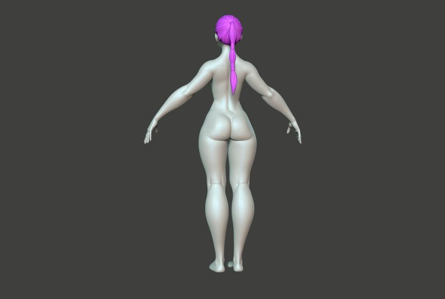 Corpo Feminino Basemesh 11 royalty-free 3d model - Preview no. 5