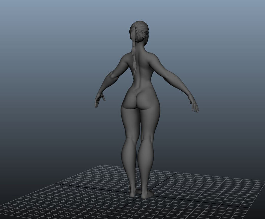 Corpo Feminino Basemesh 11 royalty-free 3d model - Preview no. 19