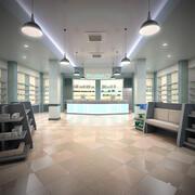 Pharmacy Store 3d model