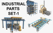 Industrial Parts Set_1 3d model