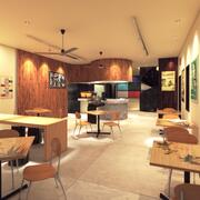 Model 3D kawiarni kawiarni 3d model