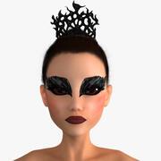Siyah Kuğu Balerin Karakteri 3d model