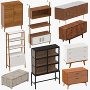 Mid-Century Modern Furniture 02 3d model