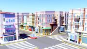 Ensemble de ville stylisée 3d model