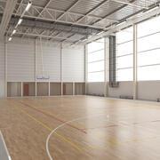Basketball-Fitnessstudio 3d model