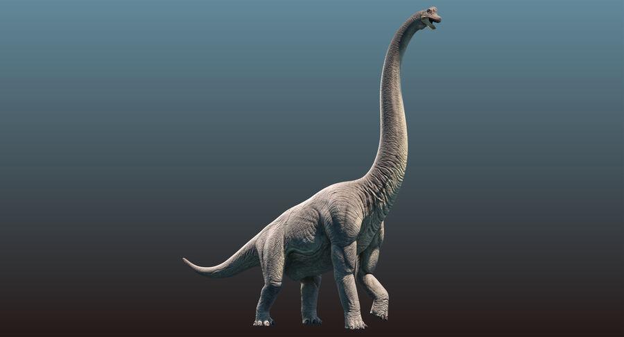 Brachiosaurus royalty-free 3d model - Preview no. 2