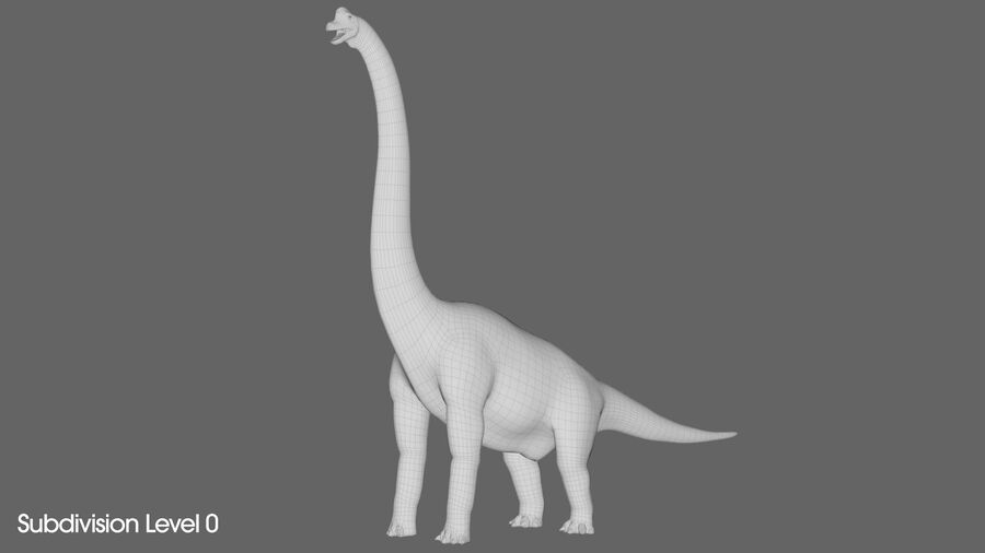 Brachiosaurus royalty-free 3d model - Preview no. 14