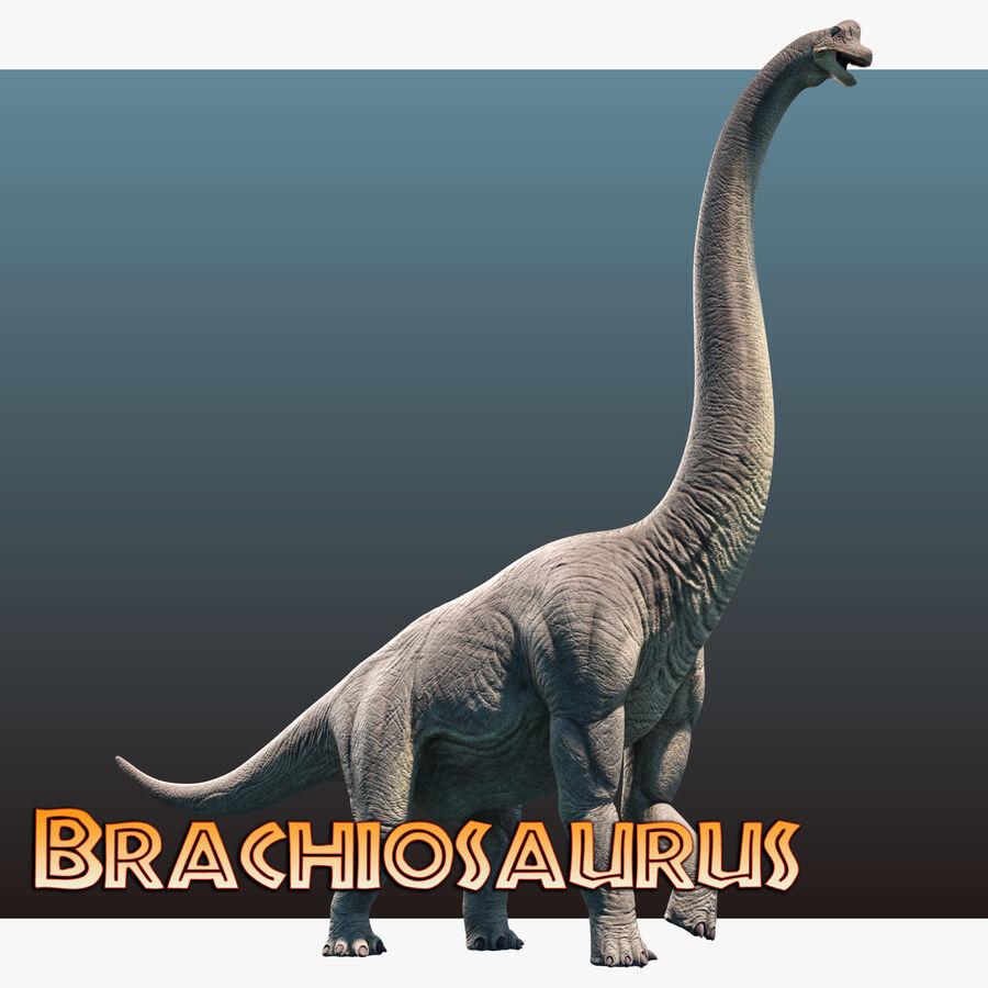 Brachiosaurus royalty-free 3d model - Preview no. 11