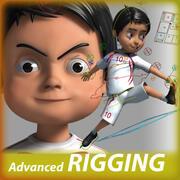 Cartoon Fußball Junge Charakter 3d model