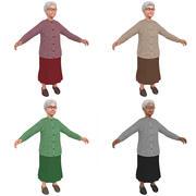 Elderly Woman PACK 3d model