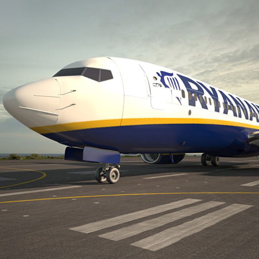 Boeing 737-800 royalty-free 3d model - Preview no. 1