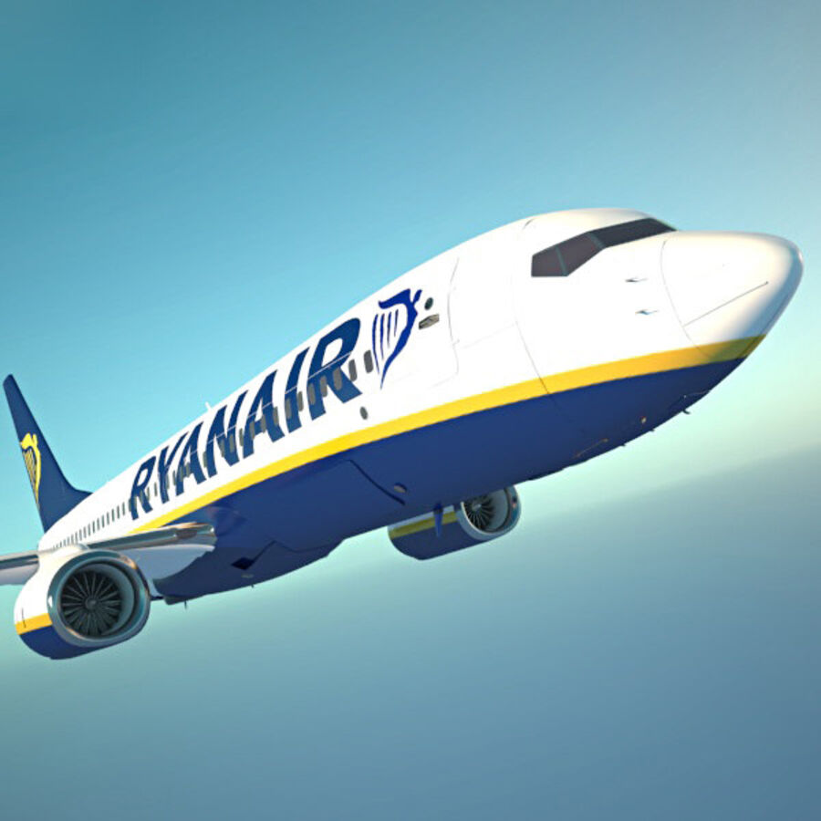 Boeing 737-800 royalty-free 3d model - Preview no. 15