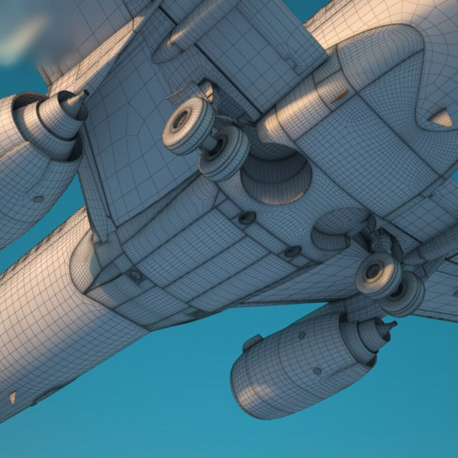 Boeing 737-800 royalty-free 3d model - Preview no. 12
