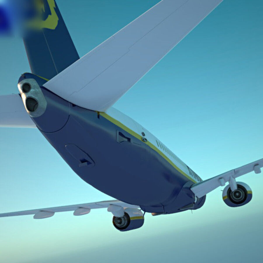 Boeing 737-800 royalty-free 3d model - Preview no. 13