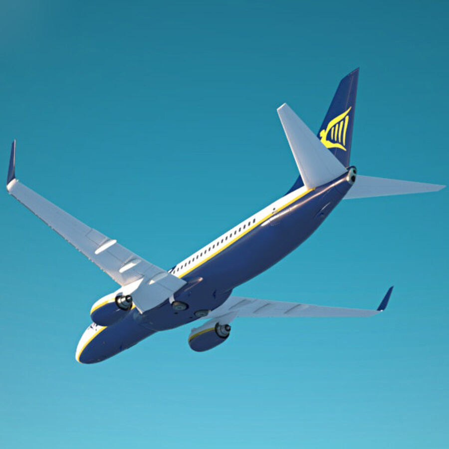 Boeing 737-800 royalty-free 3d model - Preview no. 10