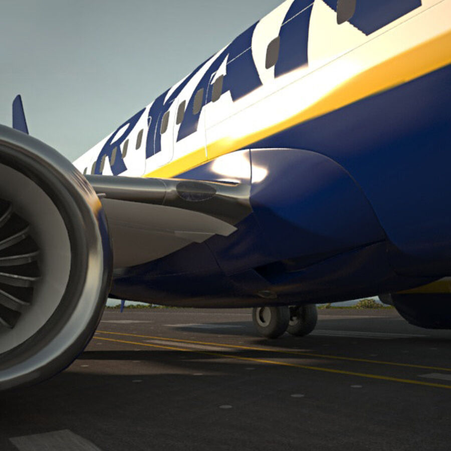 Boeing 737-800 royalty-free 3d model - Preview no. 5