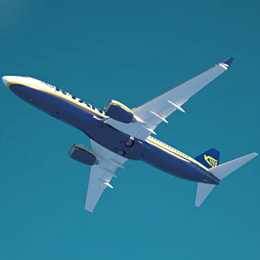 Boeing 737-800 royalty-free 3d model - Preview no. 8