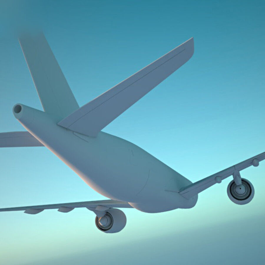 空中客车A350-900 royalty-free 3d model - Preview no. 14
