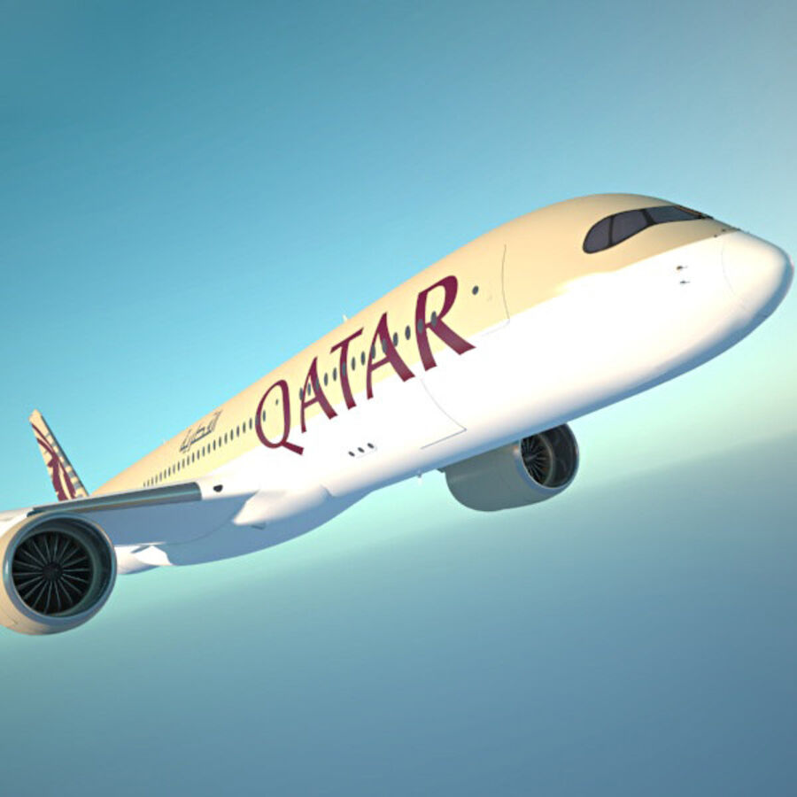 空中客车A350-900 royalty-free 3d model - Preview no. 15