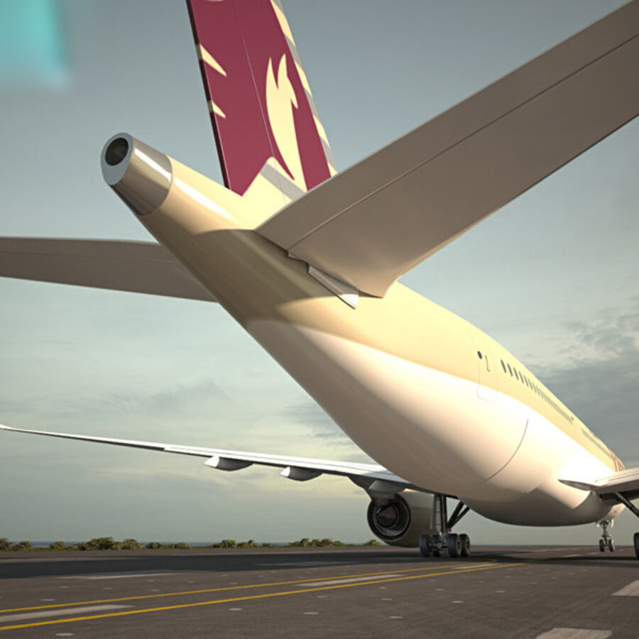 空中客车A350-900 royalty-free 3d model - Preview no. 2