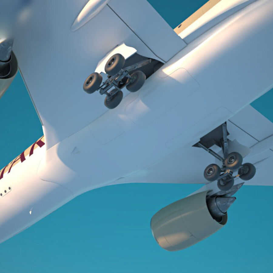 空中客车A350-900 royalty-free 3d model - Preview no. 11