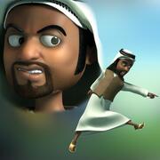 Cartoon árabe do Oriente Médio 3d model