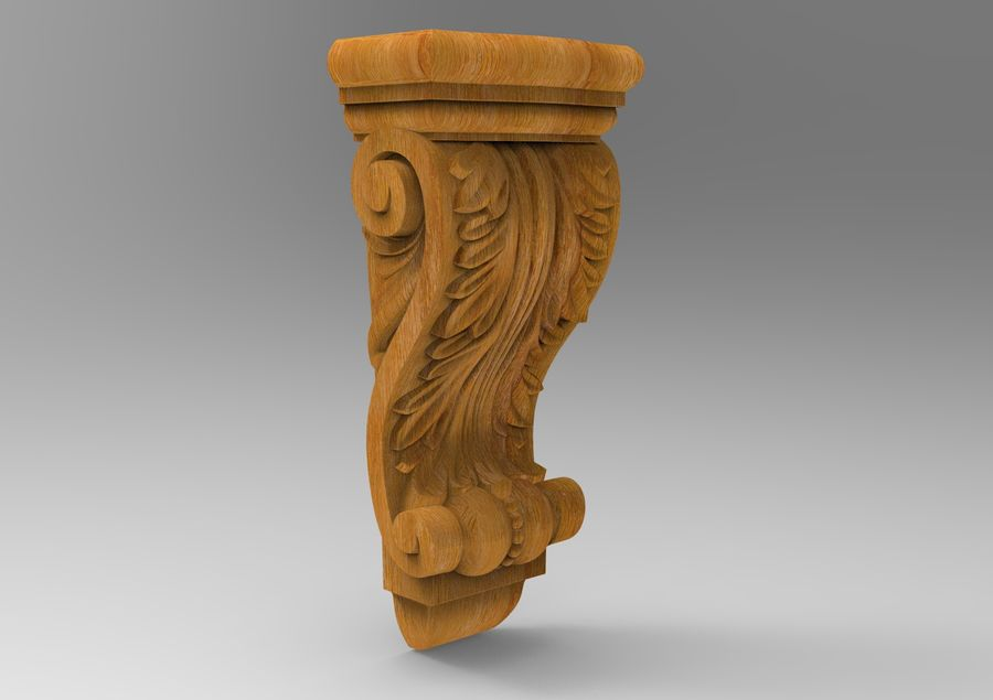 Corbel Carved royalty-free 3d model - Preview no. 1