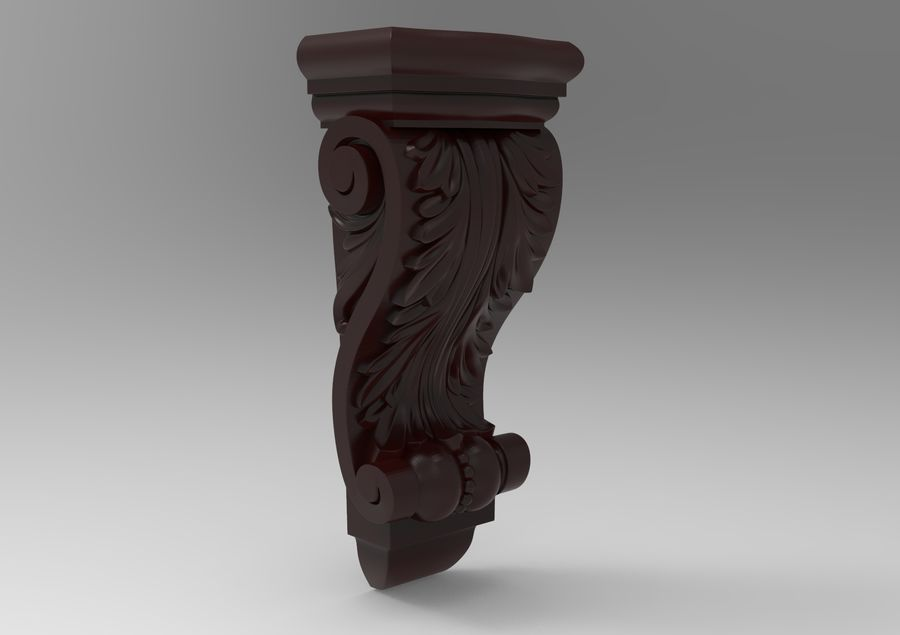 Corbel Carved royalty-free 3d model - Preview no. 4