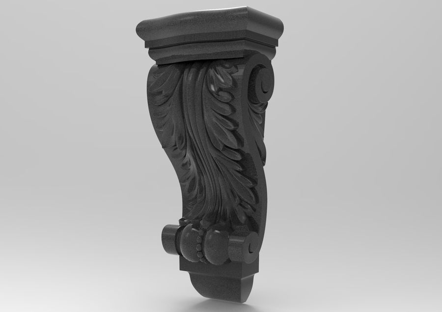 Corbel Carved royalty-free 3d model - Preview no. 2