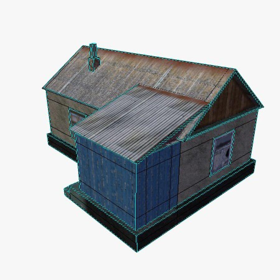 Ryskt hem 1 låg poly royalty-free 3d model - Preview no. 5