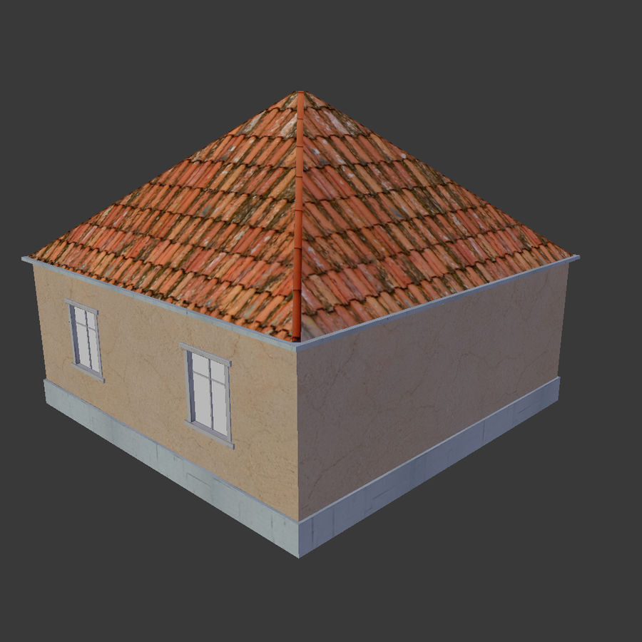 3Dロシアの家2低ポリ royalty-free 3d model - Preview no. 5