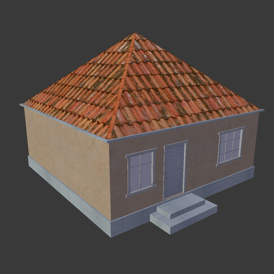 3Dロシアの家2低ポリ royalty-free 3d model - Preview no. 4