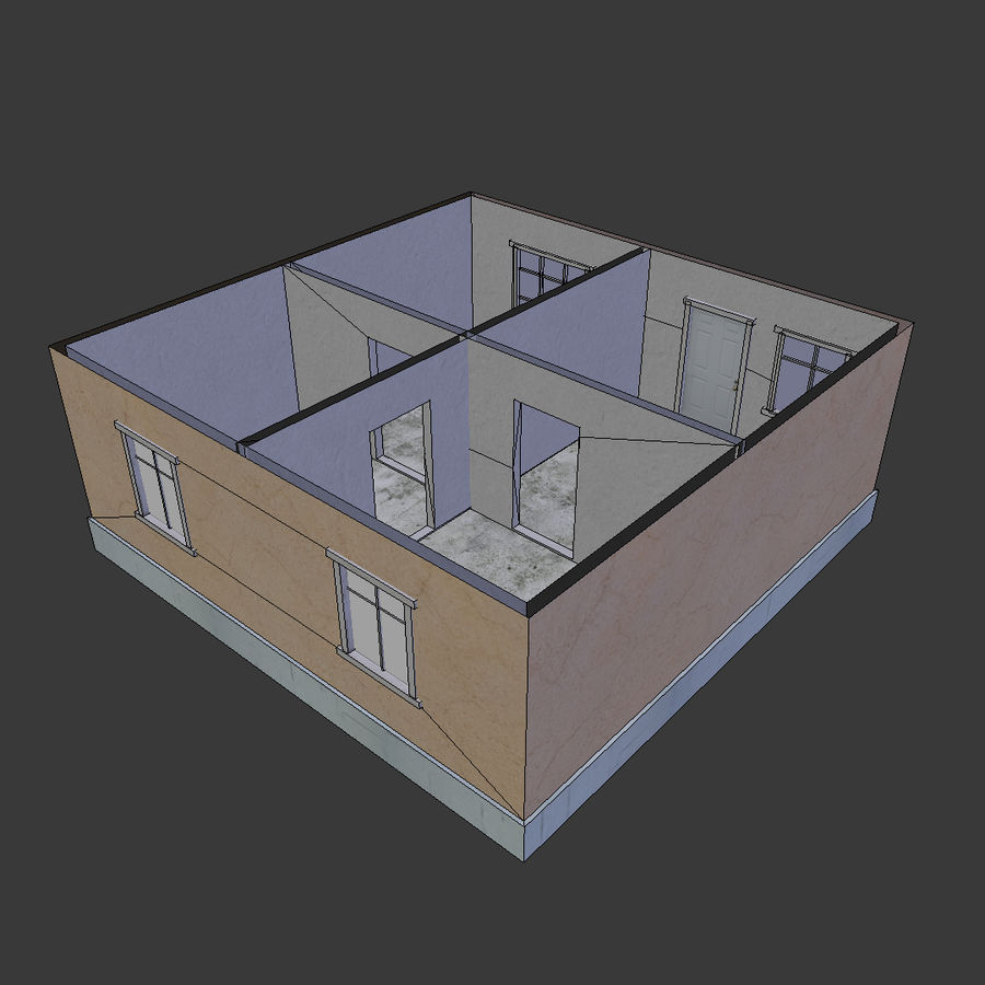 3Dロシアの家2低ポリ royalty-free 3d model - Preview no. 6