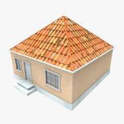 3D ryska hem 2 låg poly 3d model