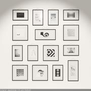 Стильные рамки для галереи 3d model