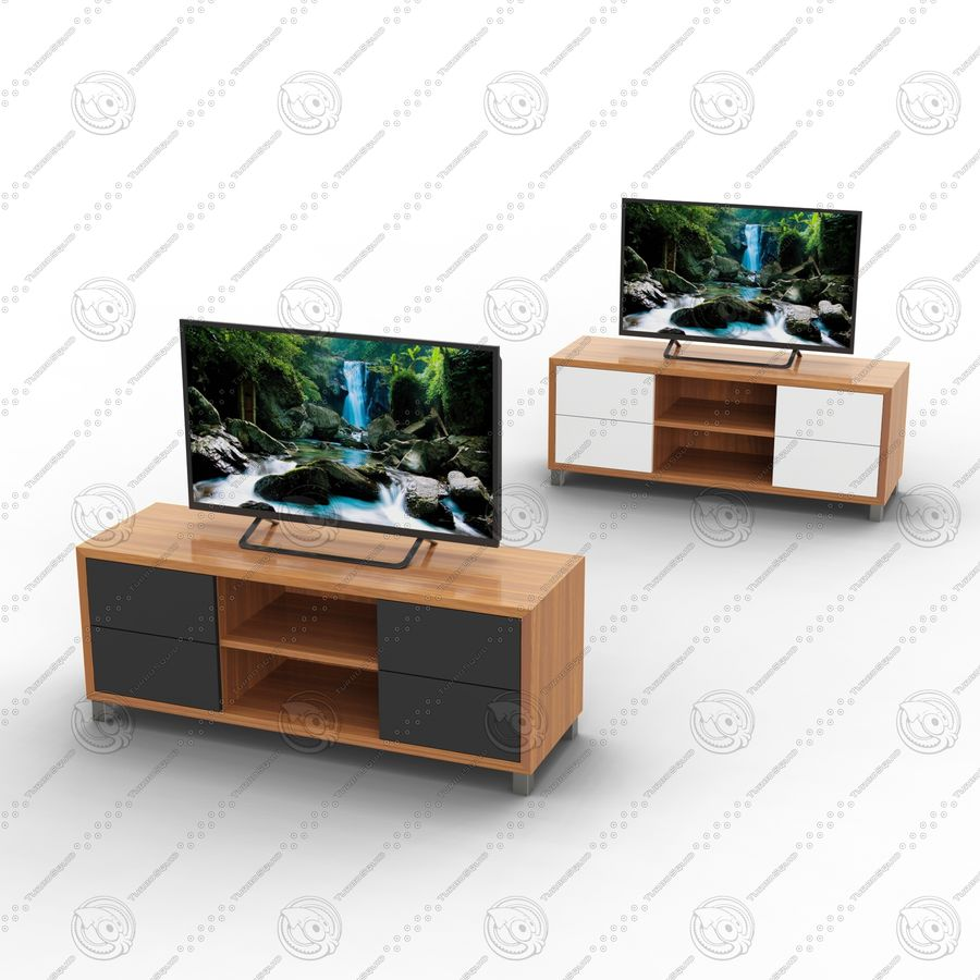 TV cabinet royalty-free 3d model - Preview no. 1