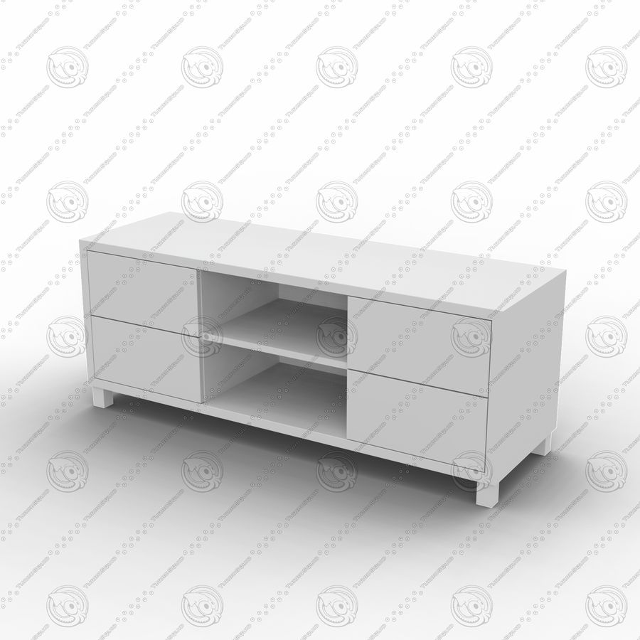 TV cabinet royalty-free 3d model - Preview no. 5