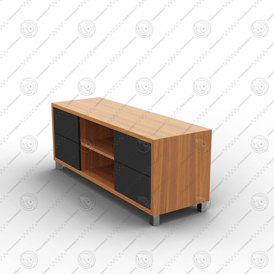 TV cabinet royalty-free 3d model - Preview no. 3