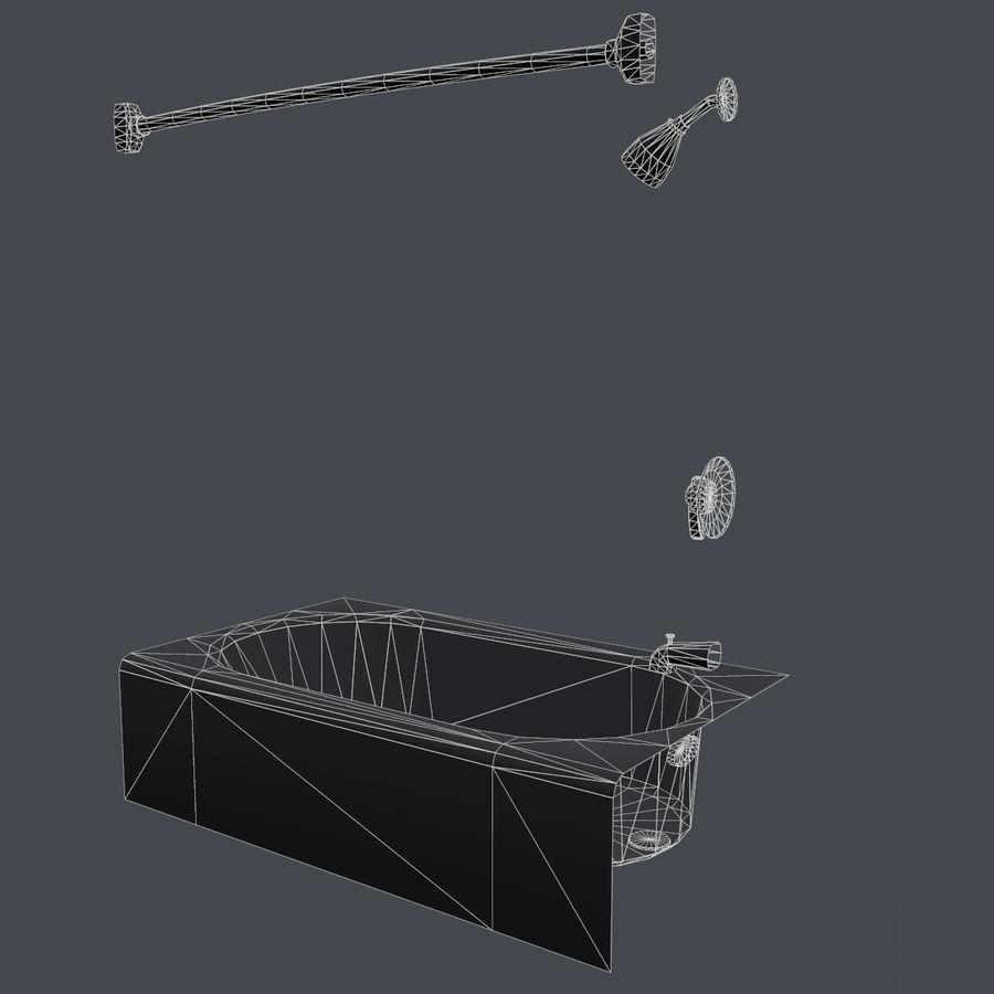 목욕통 royalty-free 3d model - Preview no. 17